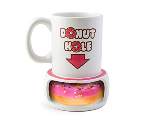 BigMouth Inc. Donut Hole Mug, Ceramic Cup for Coffee and Tea...