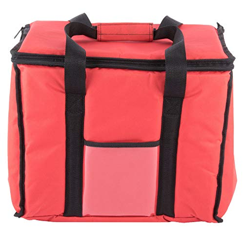 Sandwich Delivery Bag - TableTop King Insulated Delivery Bag, Soft-Sided Sandwich/Take-Out Hot/Cold Delivery Bag, Red Nylon, 15