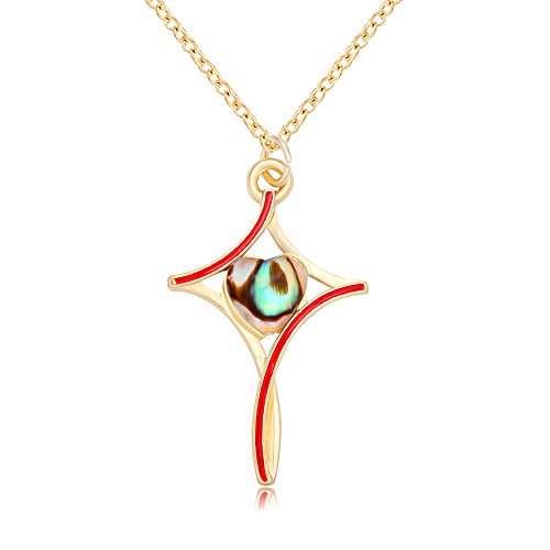 Abalone Cross Pendant (NOUMANDA New Fashion Simple Abalone Shell Cross Necklace Pendant For Women)
