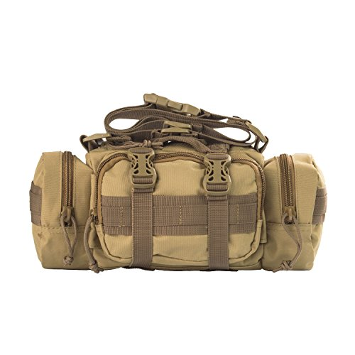 3V Gear Rapid Deployment Pack/Convertible Adjustable Shoulder Strap to Waist Carry/Multi-Pockets with Interior Organization for EMT, First Response, Survival, or Military Use/Coyote Tan