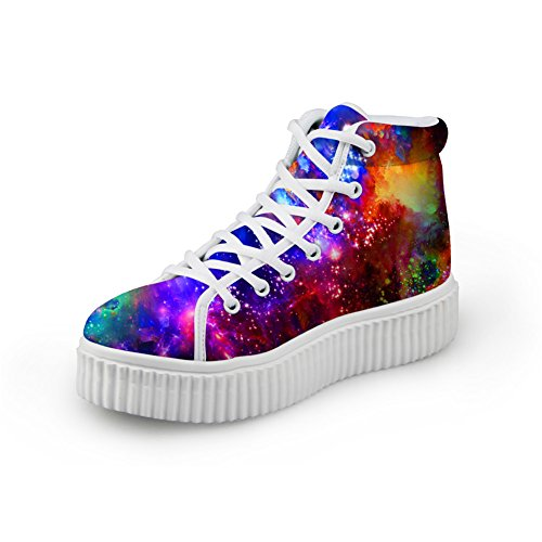 Bigcardesigns Classical Galaxy Design High Top Casual Sneakers Lace Up Flat Shoes Unisex Style4
