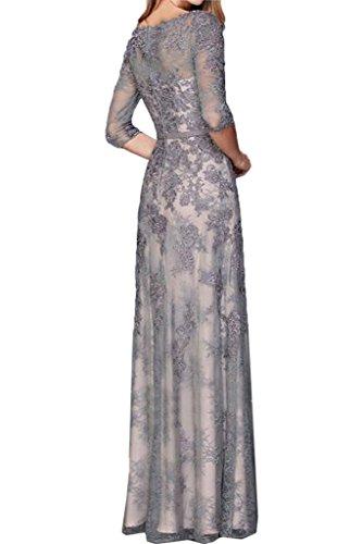 Custodia fisso mezzo colletto Prom qualità nbsp;Linea Grau ressing rotondi Aermel ivyd donna abito abito vestito sera nbsp;– da da alta IFxf65qw