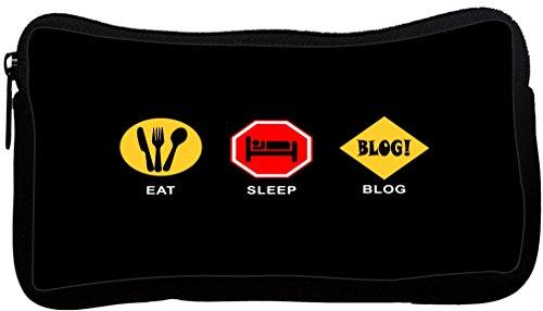 Rikki Knight Eat Sleep Blog Neoprene Pencil Case (dky-Neo...
