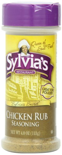 (Sylvia's Chicken Rub Seasoning, 4-Ounce Containers (Pack of 12))