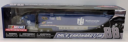 2017 Dale Earnhardt Jr #88 Nationwide Dew Taxslayer 1/64 1:64 Scale Diecast Hauler Trailer Truck Tractor Semi Rig Transporter Metal Cab/Tractor, Plastic Trailer NASCAR Authentics