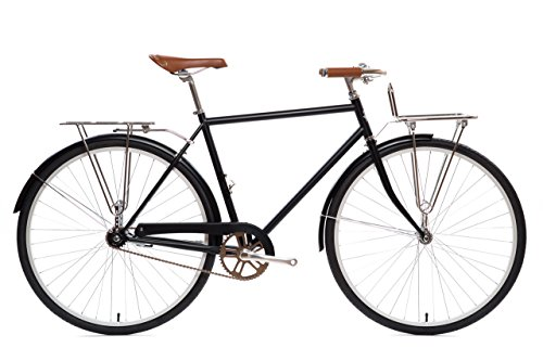 State Bicycle Co. City Bike Deluxe | The Elliston Lightweight Single Speed Dutch Style Urban Cruiser | Large 58cm