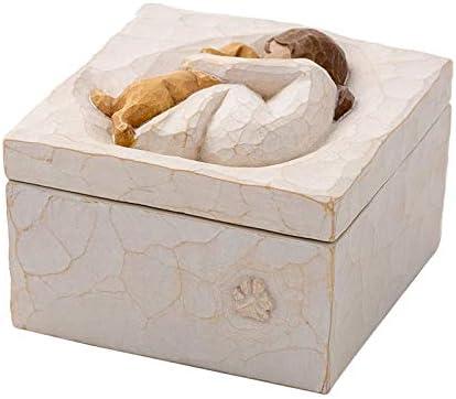 Perfeclan Mooie harsvormige gesneden handgeschilderde aandenkendoos decoratief vriendschapsdoosje voor sieraden