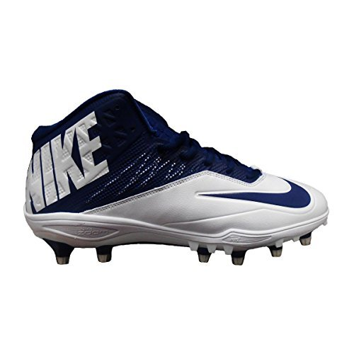 NIKE Zoom Code Elite 3/4 TD Football Cleats (11, White/Navy) by NIKE