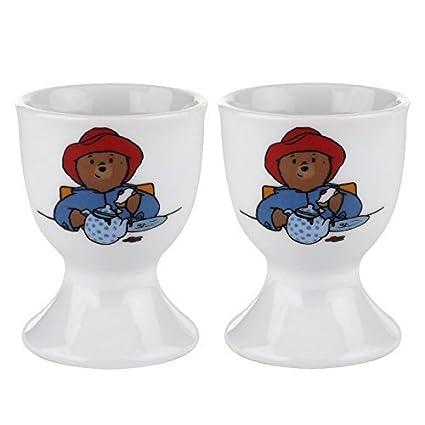 Royal Worcester Paddington Bear 2pc Egg Cup Set
