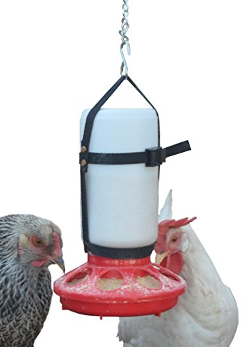 Plastic Feeder Base - Your Happy Chicks 1 Qt. Hanging Harness with Plastic Bottle and Feeder Base