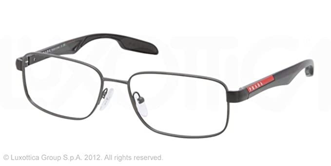 Amazon com: Prada Sport Ps52dv Eyeglasses Aag1o1 Asphalt