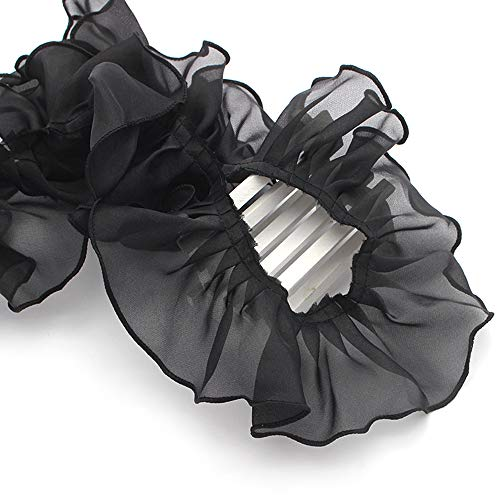 2yards Approx 8.5cm Organza Lace Trim Sewing Handmade Materials Pleated Ruffle Lace Trim (C8 ()