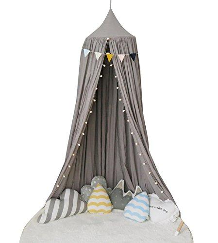 広範囲先例遵守するTGG 天井テント、子供テント寝具家庭用屋内ゲームハウスコットンベッドサイドペイアウト読書コーナー50 * 280CM 持ち運びが簡単 (色 : 白)