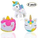 Vigeiya 3 Pack Squishies Unicorn Donut Unicorn Cake Unicorn Slow Rising Jumbo Toys Prime Cheap Kawaii Animal
