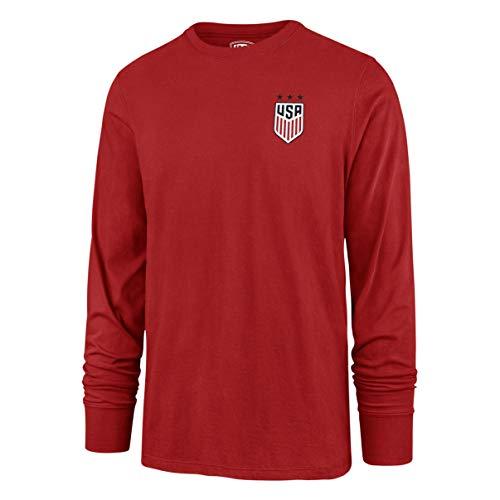 - OTS World Cup Soccer Men's Rival Long Sleeve Tee, U.S. Women's Soccer Team, Hudson Red, Small