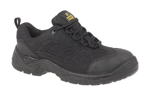 Amblers Unisex Steel FS214 Black Safety Trainer / Mens Womens Shoes (4 UK) (Black) by Amblers Steel