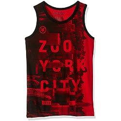 Zoo York Men's Big Boys' Tank Top, Peekaboo Dark Red, M10/12