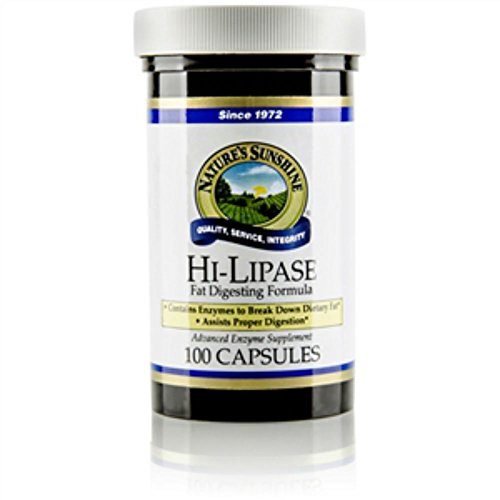 Naturessunshine Hi Lipase Supports Digestive System (120 LU) 100 Capsules (Pack of 4) by Nature's Sunshine (Image #2)