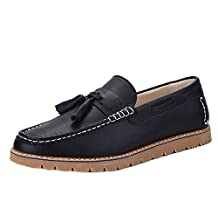 Chickle Men's Pu Leather Boat Shoes Loafers