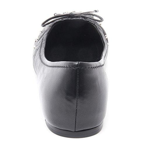 Car B3930 Ballerina Shoe Nera Borchie Scarpa Donna Donna Nero CrCRq