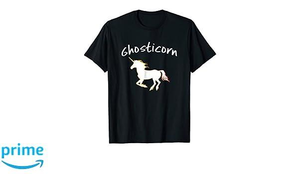 3f24540a219a Amazon.com: Halloween Unicorn Shirt Ghosticorn Cute Funny Ghost TShirt:  Clothing
