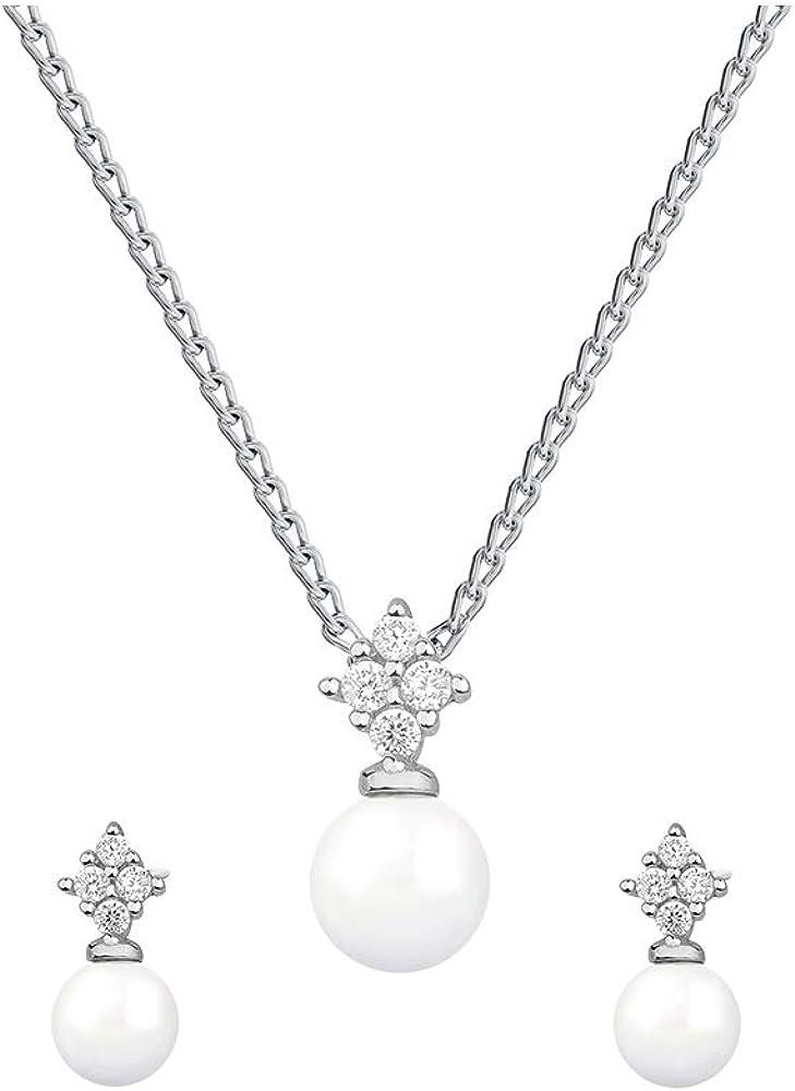 Beforya Paris - Juego de joyas de plata 925 con cristales de Swarovski para mujer, con caja de regalo: Amazon.es: Joyería