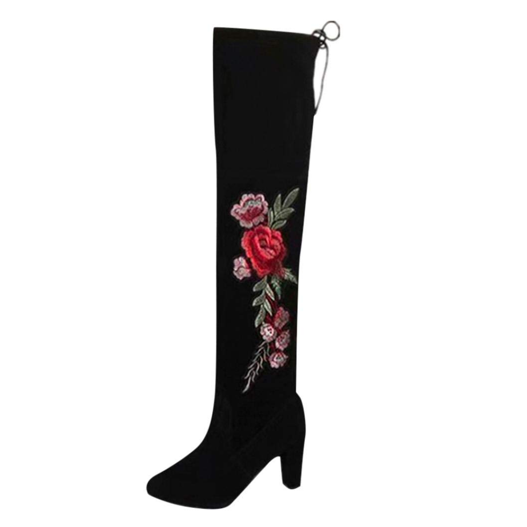 9701272b245d Amazon.com  SUKEQ Women Thigh High Boots