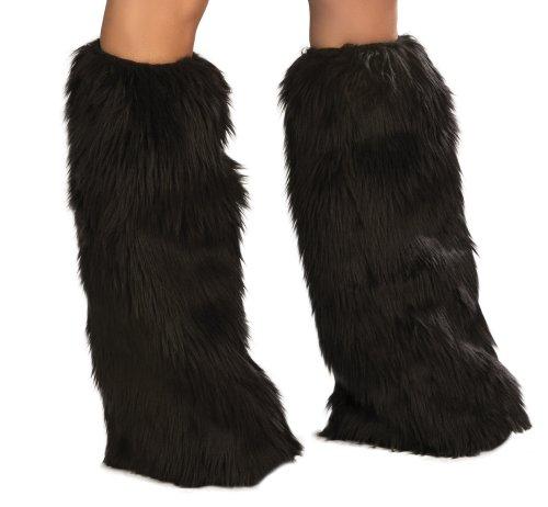 J. Valentine Women's Black Basic Leg Warmer, Black,