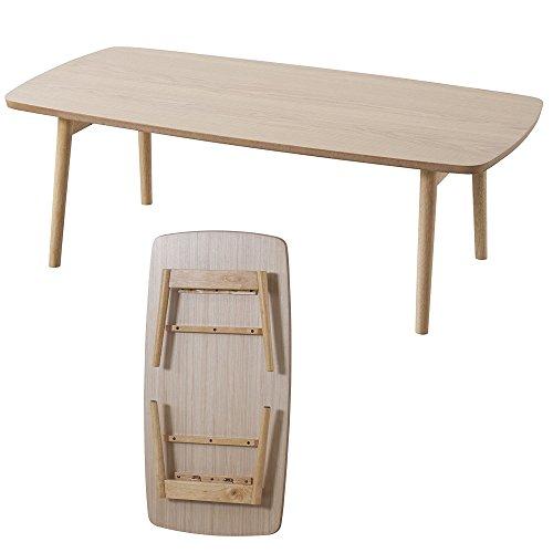 AZUMAYA Wooden Folding Legs Coffee Center Table BLT-229OAK (NATURAL OAK) by Azumaya Japan