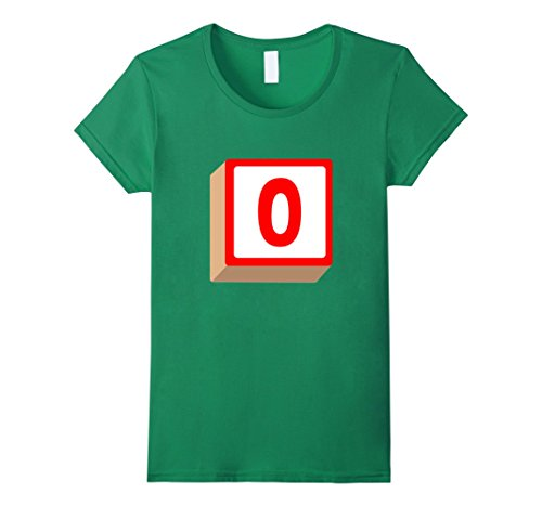 Womens O Alphabet Block Halloween Group Costume T-Shirt XL Kelly Green - Alphabet Costumes Ideas