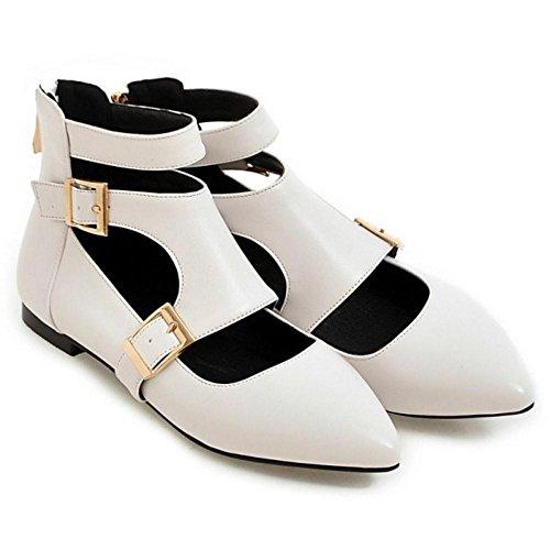 Coolcept Zapatos de Tacon Bajo con Huecos Para Mujer White