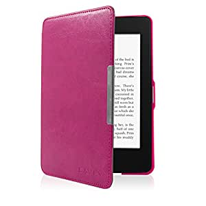 """SAVFY Kindle Paperwhite PREMIUM Smart Leather Case Cover Flip Pouch with Magnetic Flap Closure, Auto Sleep Wake Function for Amazon New Kindle Paperwhite 2013 & Previous Generation 2012 WiFi 3G 6"""" - Book Style, includes Bonus STYLUS PEN & SCREEN PROTECTOR"""