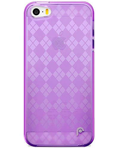 Fosmon DURA TPU Checker Design case for iPhone 5 / 5s / SE - Purple