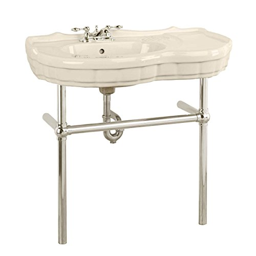Renovators Supply Manufacturing Bone Console Sink Deluxe Southern Belle with Chrome Bistro Legs