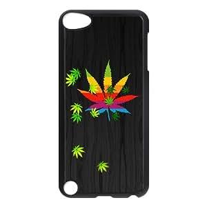 Ipod Touch 5 Phone Case for Marijuana Leaf grass Classic theme pattern design GMJLGCT874560
