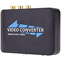 New Portable 1080P HDMI to CVBS + SVIDEO+L / R Audio Converter for HDTV STB DVD Projector