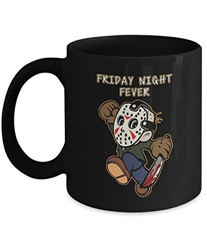 Shirt White Friday Night Fever Funny Halloween Friday 13th Coffee Mug 11oz Black -