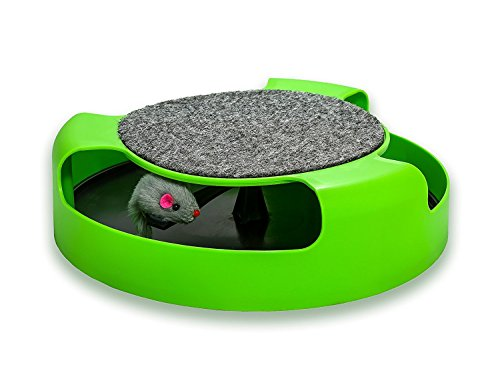 AroPaw Cat Toys Interactive - Cat Toy with Rotating Running Mouse and A Two in One Scratching Pad - Catch The Mouse - Catnip Toy Mouse (Catnip Not Included) - Quality Kitten Toys 4