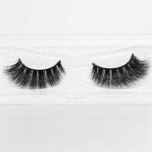c5159f929c9 Amazon.com : Dramatic Look 3D Mink False Eyelashes Premium Quality Handmade  Long Thick Strip Lashes Women Makeup Crossed Style Fake Eyelash 1 Pair  (3D062) : ...