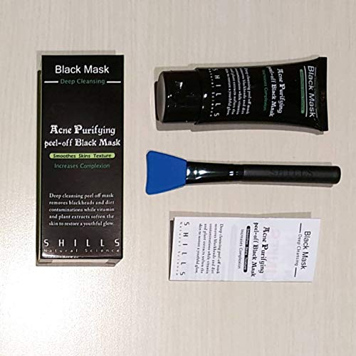 SHILLS Blackhead Remover, Pore Control, Skin Cleansing, Purifying Bamboo Charcoal, Peel Off Black Mask,1 Bottle(1.69 fl… 6