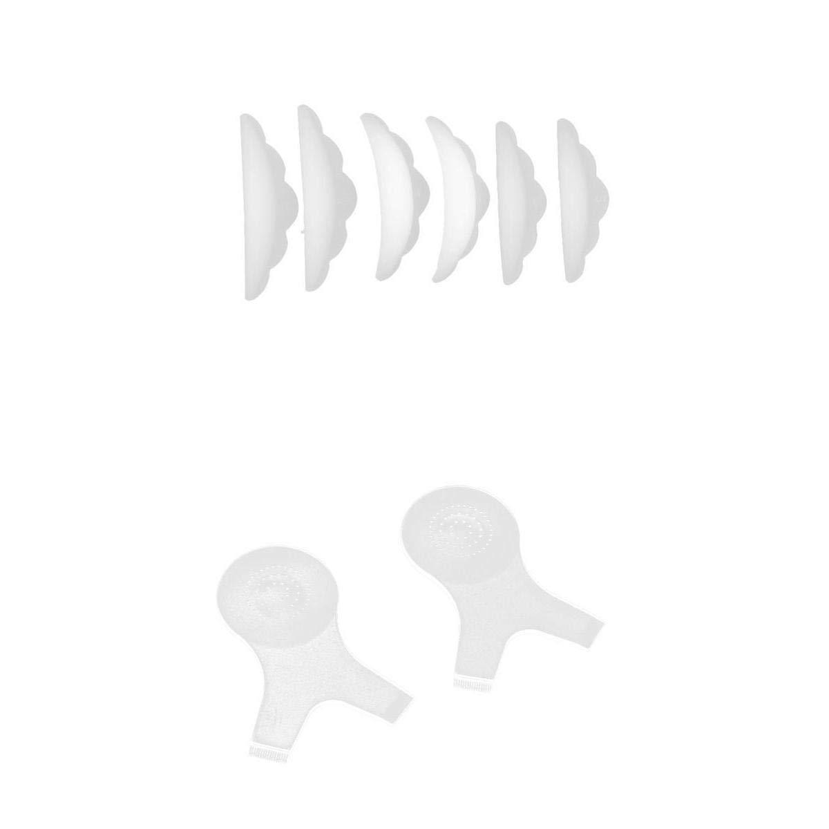Homyl 6 Pezzi In Silicone Ciglia Bigodini Toppe Perming Kit Innesto Ciglia Pennello Forma Y Shield Trucco Ciglia Finte Patch Permanenti