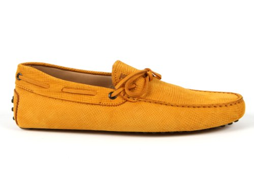 Tod's Mens Shoes Yellow Gommino Front Tie Moccasins USA Size 7.5 (Printed Size 6.5) T097
