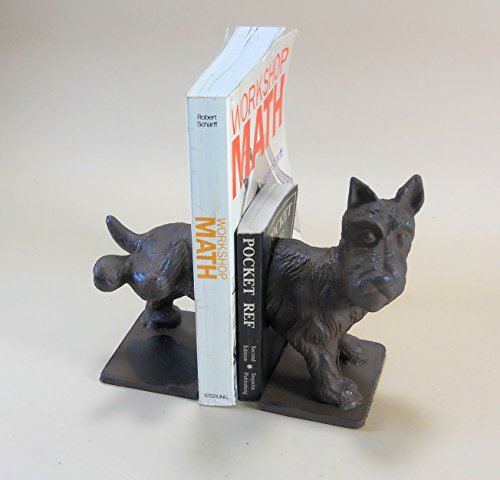 Puppy Bookends - Scottie Dog Naughty Bookends Cast Iron
