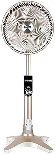 QQXX Ventilador de pie Ventiladores de Pedestal Inversor de CC Ventilador de Control Remoto Varilla telescópica Vertical Ultra silencioso, Dorado Seguro y Ahorro de energía