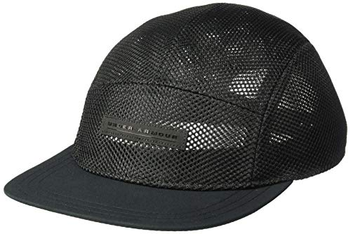 Under Armour Elite Pursuit Camper, Black//Black, One Size Fits All (Best 5 Panel Hats 2019)