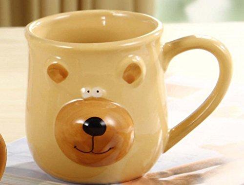 Buff Cute Bear Ceramic Mug by OliaDesign®