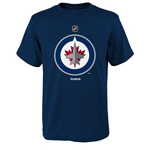 NHL Winnipeg Jets Boys 8-20 Primary Logo Short Sleeve Tee, Navy, Large(14-16)
