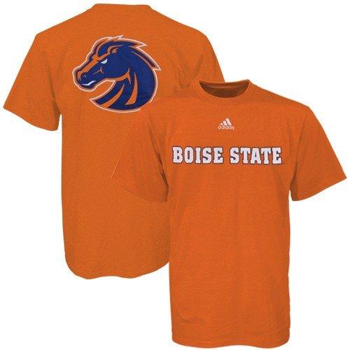 Mascot Large Adidas T-shirt (Boise State Broncos NCAA Primetime Orange Adidas Adult T-Shirt XX-Large)