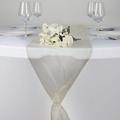 - Mikash 12 pcs 14x 108 Sheer Organza Table Top Runners Wedding Party Decorations Sale | Model WDDNGDCRTN - 14136 |