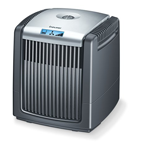 (Beurer Air Cleaner and Air Humidifier, Air Purifier with Easy Washable Filter for Clean Air, LCD Display, LW110)